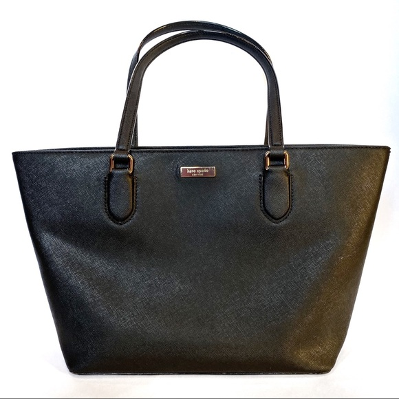 kate spade Handbags - Kate Spade Black Leather Tote Purse